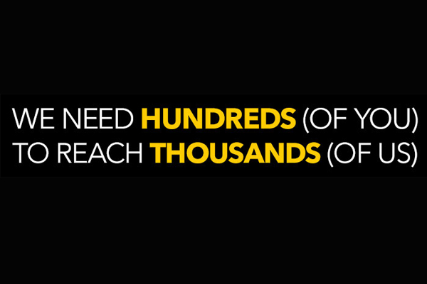 Video: Be One of the Hundreds